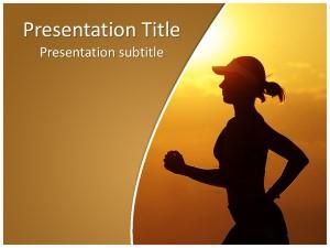 Morning Running Free Ppt Template Slide1