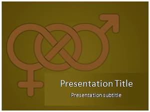 Male Female Free Ppt Template Slide1