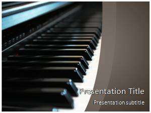 Piano Free Ppt Template Slide1