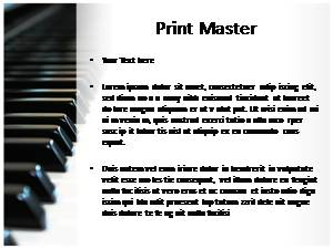 Piano Free Ppt Template Slide3