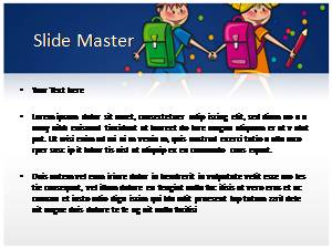 School Student Free Ppt Template Slide1