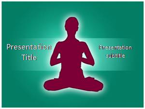 Yoga Asanas Free Ppt Template Slide1