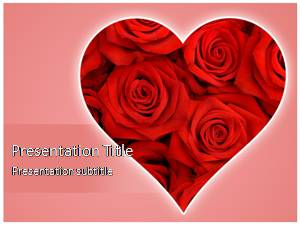 Heart Rose Free Ppt Template Slide1