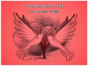 Love Birds Free Ppt Template Slide1