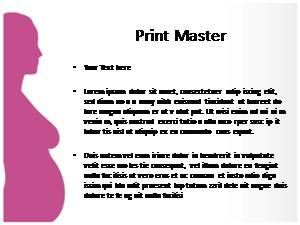 Pregnant Free Ppt Template Slide1