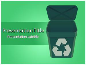 Recycle Free Ppt Template Slide1