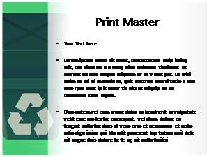 Recycle Free Ppt Template Slide3