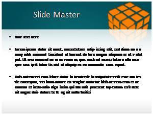 Rubiks Cube Free Ppt Template Slide1