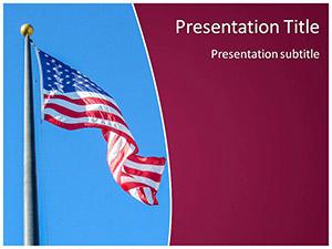 USA Flag Free Ppt Template Slide1