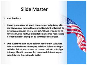 USA Flag Free Ppt Template Slide2