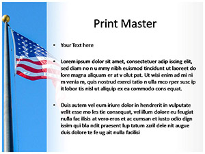 USA Flag Free Ppt Template Slide3