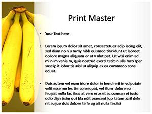 Bananas Free Ppt Template Slide3