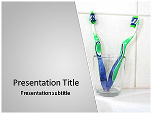 Dental Brush Free Ppt Template Slide1