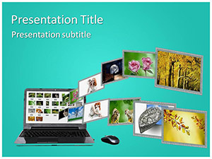 Image Sharing Free Ppt Template Slide1