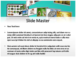 Image Sharing Free Ppt Template Slide2