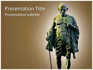 Mahatma Gandhi Free Ppt Template Slide1