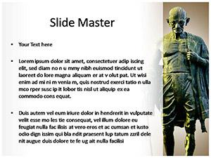 Mahatma Gandhi Free Ppt Template Slide2