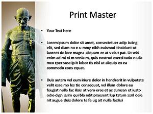 Mahatma Gandhi Free Ppt Template Slide3