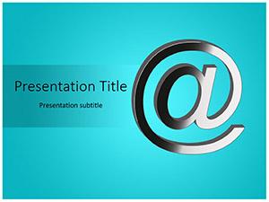 Email Symbol Free Ppt Template Slide1