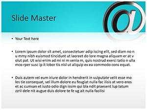 Email Symbol Free Ppt Template Slide2