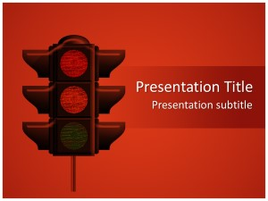 Traffic Lights Free Ppt Template Slide1