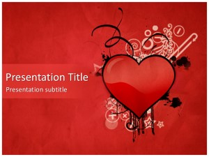 Heart Free Ppt Template Slide1