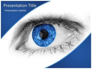 Blue Eye Free Ppt Template Slide1