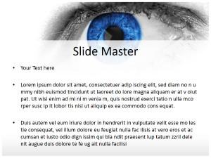 Blue Eye Free Ppt Template Slide2