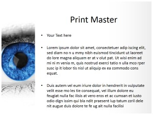 Blue Eye Free Ppt Template Slide3