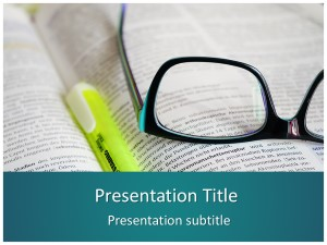 Books and Glasses Free Ppt Template Slide1