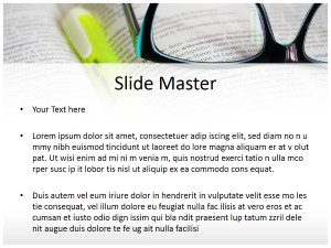 Books and Glasses Free Ppt Template Slide2