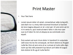 Books and Glasses Free Ppt Template Slide3