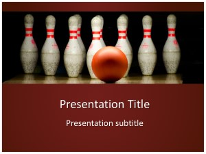 Bowling Free Ppt Template Slide1