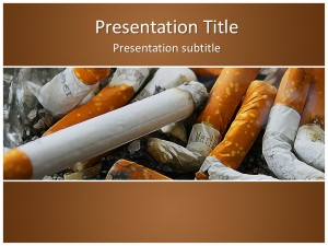 Cigarettes Free Ppt Template Slide1