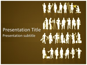 Construction Workers Free Ppt Template Slide1