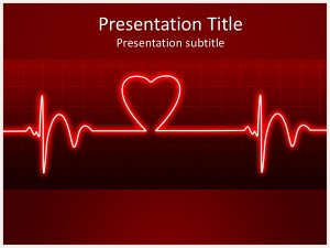 Ecg heart beat free powerpoint template and background ecg heart beat free ppt template toneelgroepblik Images