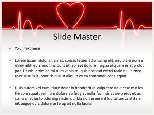 ECG Heart Beat Free Ppt Template Slide2