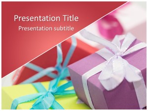 Gifts Free Ppt Template Slide1