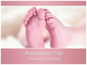 Baby Feet Free Ppt Template Slide1