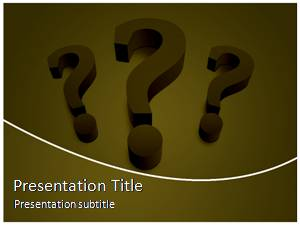 Question Mark Free Ppt Template Slide1