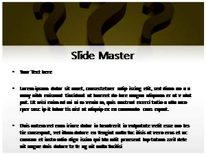 Question Mark Free Ppt Template Slide2