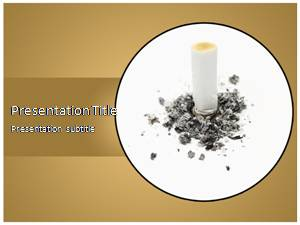 Quit Smoking Free Ppt Template Slide1
