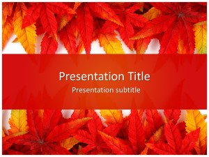 Leaf Abstract Free Ppt Template Slide1