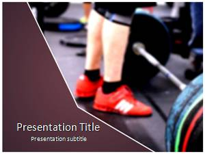 Barbell Free Ppt Template Slide1