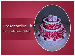 Birthday Cake Free Ppt Template Slide1
