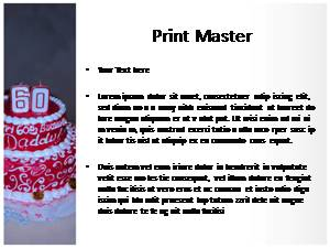 Birthday Cake Free Ppt Template Slide3