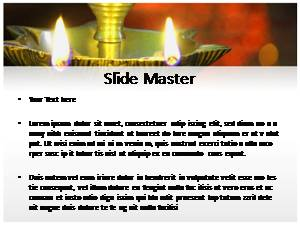 Diwali Lamp Free Ppt Template Slide2