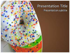 Donuts Free Ppt Template Slide1
