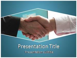 Handshake Free Ppt Template Slide1
