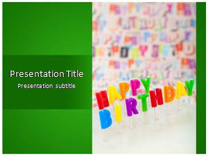 Happy Birthday Free Ppt Template Slide1